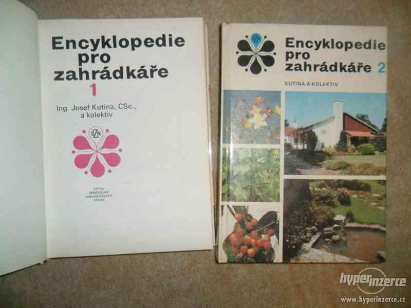 Prodám Encyklopedie pro zahrádkáře a jiné knihy