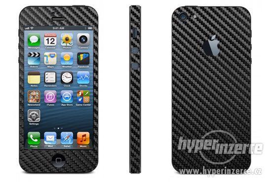 Karbonová 3M folie iPhone 5 - bílá, černá