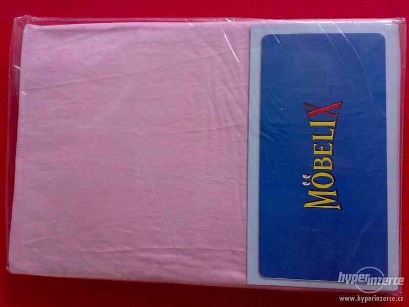 Prostěradlo Jersey 100x200cm, růžová, 1ks