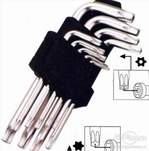 Sada 9 ks Torx klíče - Imbus - imbusový klíč , zástrčný klíč