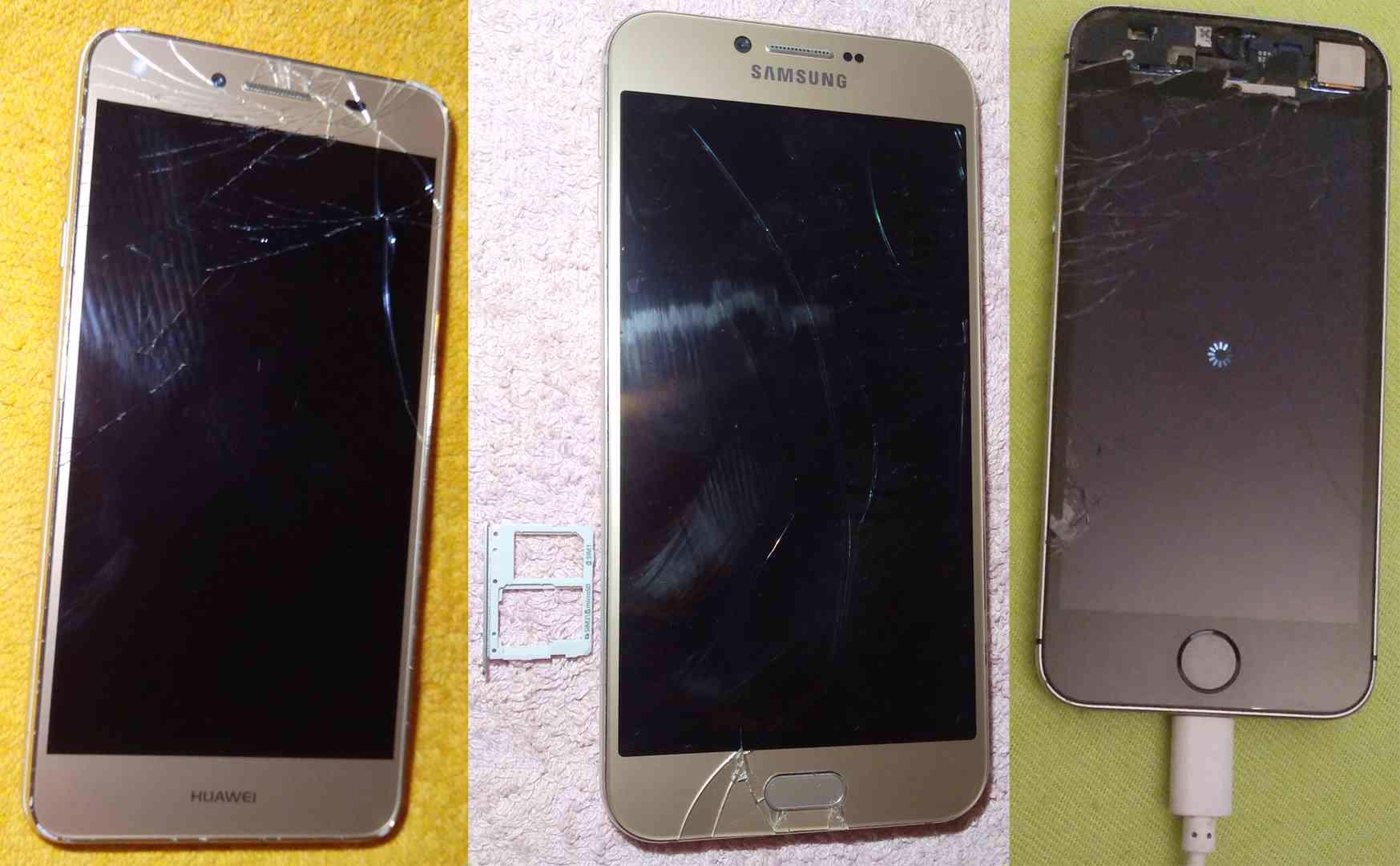 Samsung A8 +Huawei Y5 II +Apple iPhone SE -k opravám!!! - foto 1