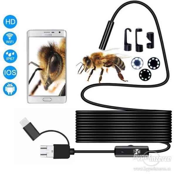 Mini USB voděodolná inspekční endoskopická kamera 7 mm-6 LED