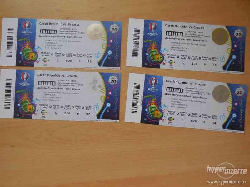 Prodám 4x lístky na Euro 2016 ČESKO:CHORVATSKO.
