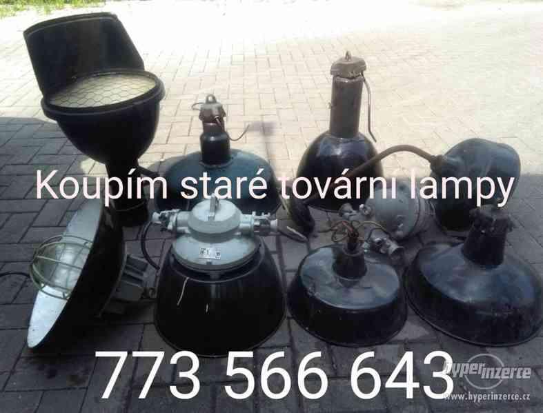 KOUPÍM staré tovární lampy - foto 1