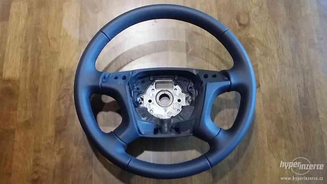 Prodám nový kožený MULTIFUNKČNÍ volant na Škoda Octavia 2.