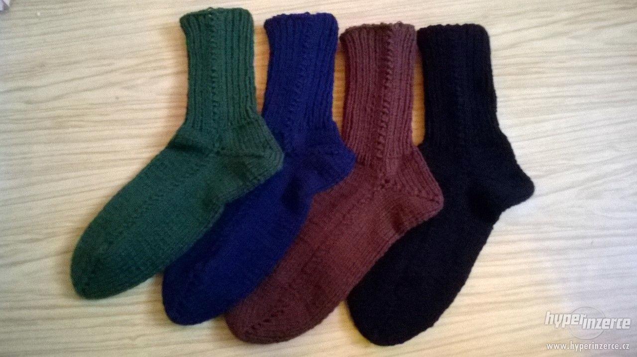 Pletené ponožky nové - foto 1