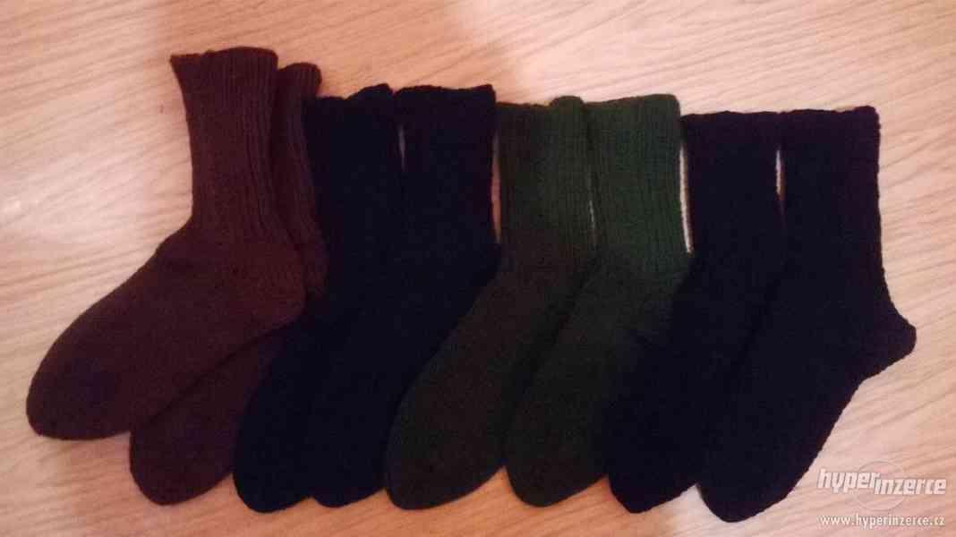 Pletené ponožky nové - foto 2
