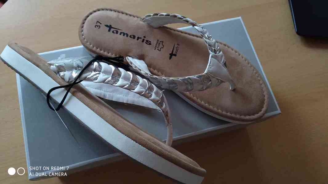 Kožené žabky Tamaris - AKCE - foto 2