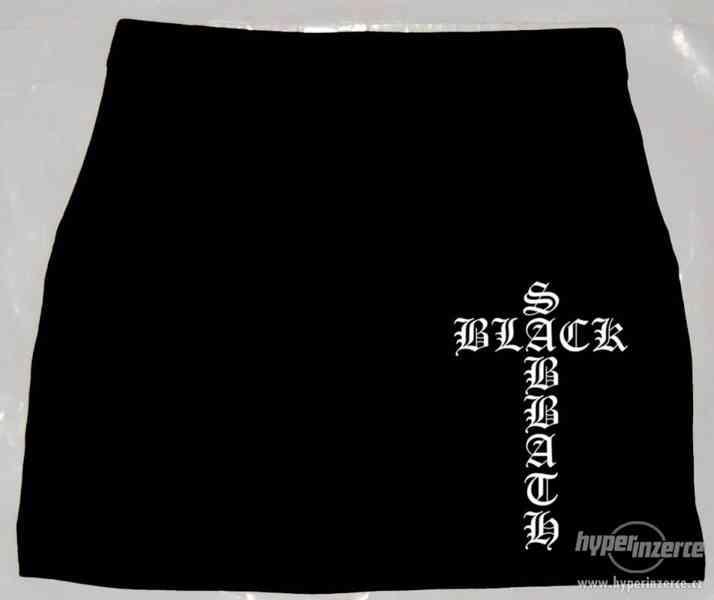 Nová elastická minisukně Black Sabbath - foto 1