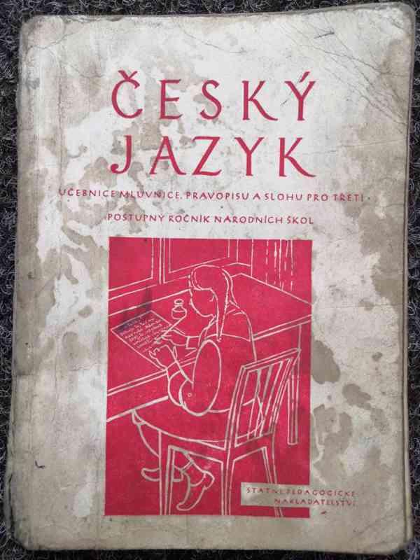 Učebnice českého jazyka z roku 1952 pro třetí ročník národní