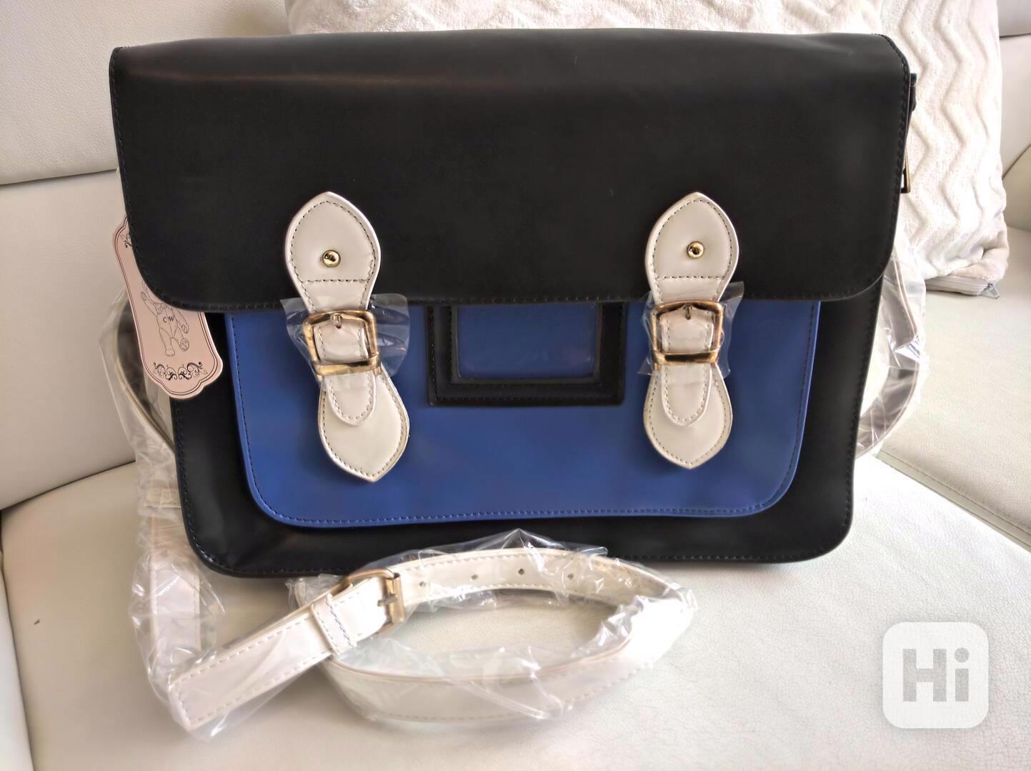 Retro dámská kabelka ve stylu aktovky - foto 1
