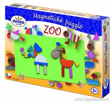 Dřevěné magnetické puzzle ZOO od českého výrobce Firmy Detoa