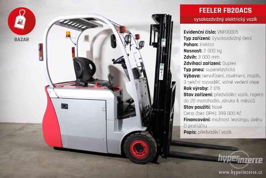 VÝHODNÉ FEELER FB20ACS vysokozdvižný elektrický vozík