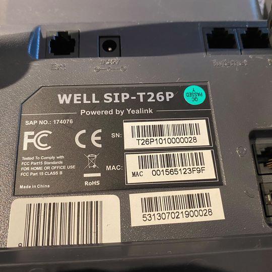 IP telefon WELL SIP-T26P - foto 6