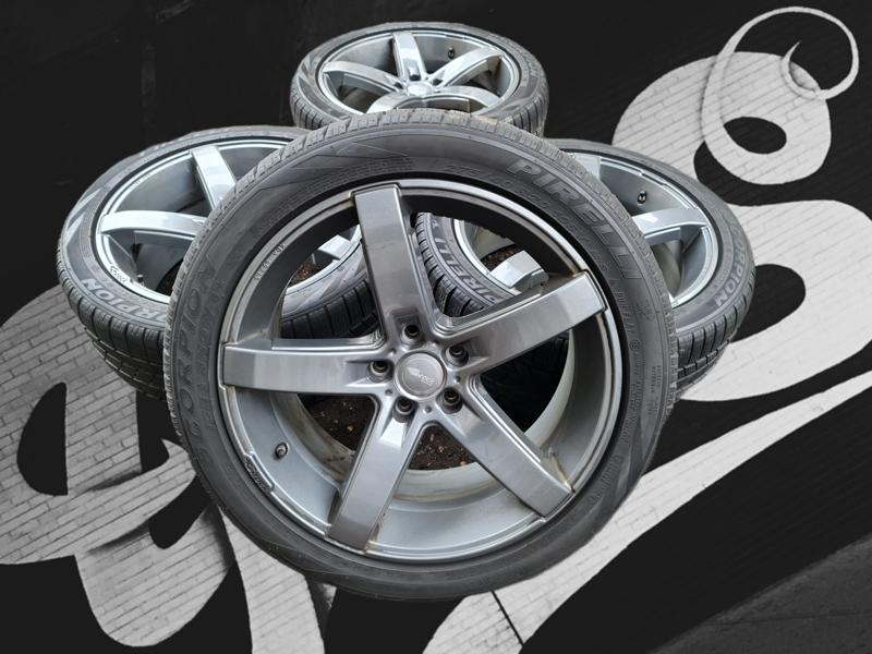Alu kola land rover Bmw 5x120 9jx20 et45 pneu pirelli 265/40
