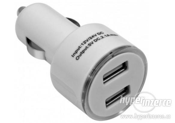 Auto CL rozdvojka USB adaptér autozapalovače