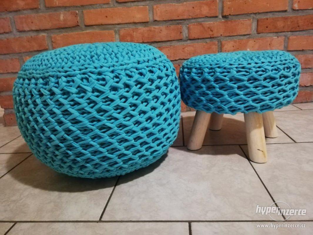 Ručně vyráběný Puf se stoličkou | by Kreativní Anděl - foto 1