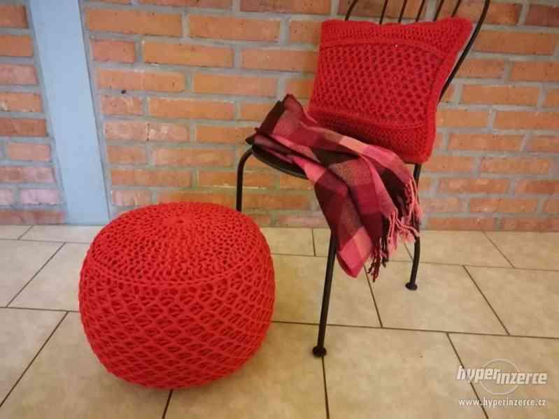 Ručně vyráběný Puf se stoličkou | by Kreativní Anděl - foto 2