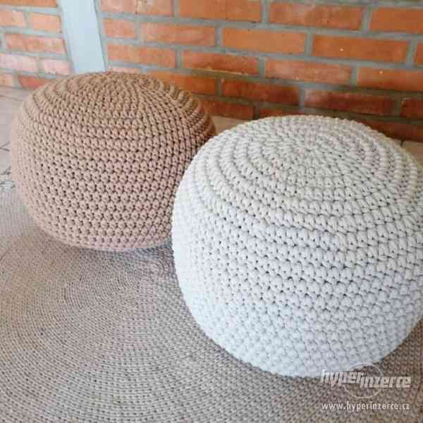 Ručně vyráběný Puf se stoličkou | by Kreativní Anděl - foto 3