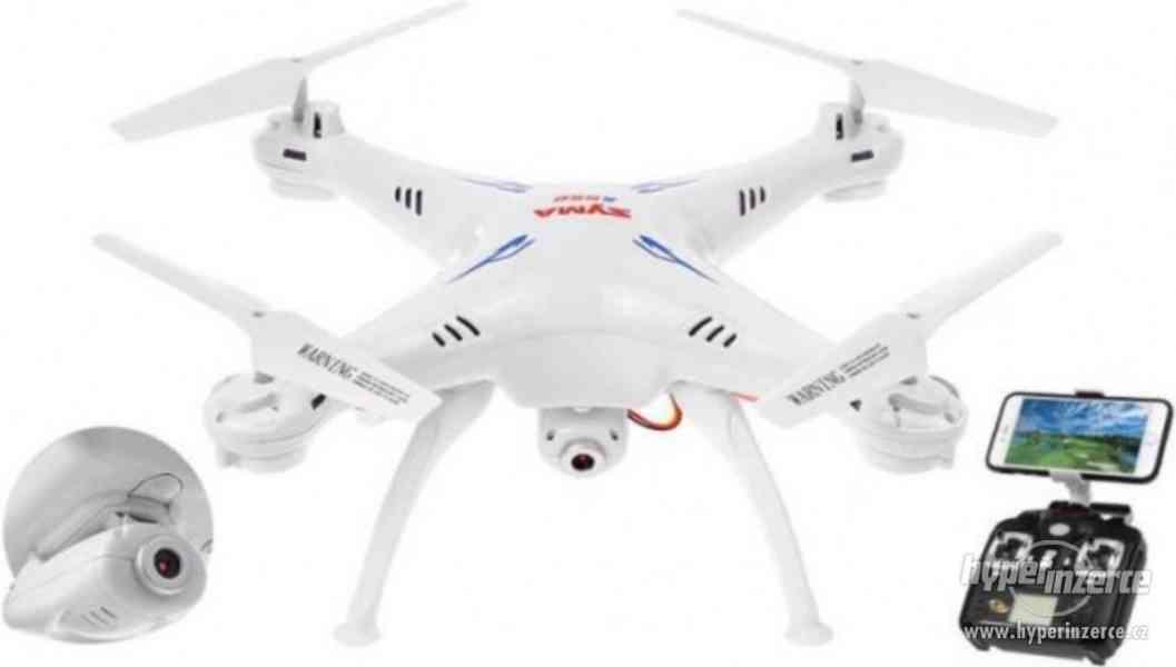 Syma X5Csw- dron s FPV online přenosem přes WiFi - ZÁRUKA - foto 2