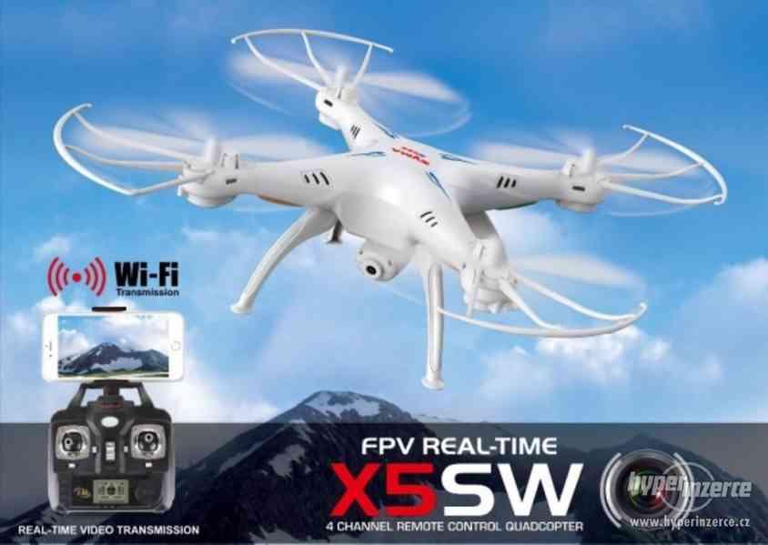 Syma X5Csw- dron s FPV online přenosem přes WiFi - ZÁRUKA - foto 3
