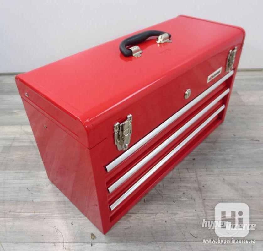 Dílenský kovový kufr na nářadí 3 zásuvky - foto 1