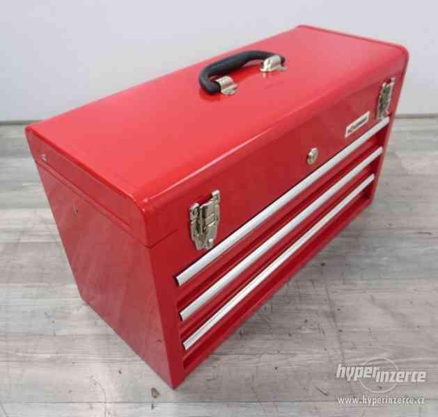 Dílenský kovový kufr na nářadí 3 zásuvky