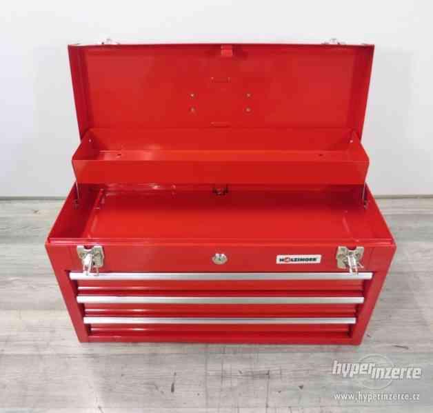 Dílenský kovový kufr na nářadí 3 zásuvky - foto 4