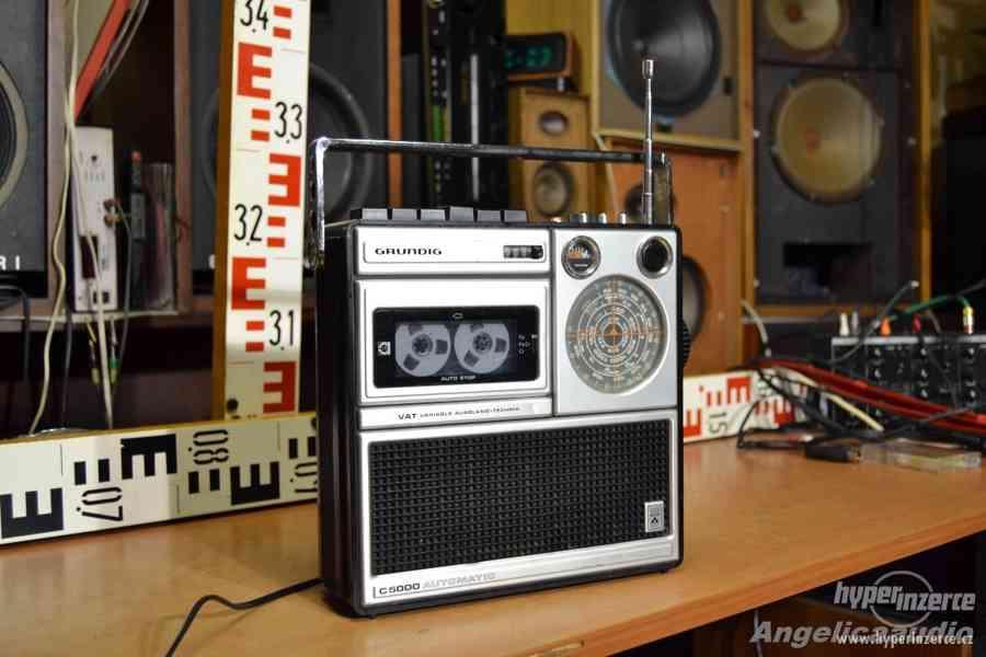 GRUNDIG C 5000 automatic, unikátní radiomagnetofon