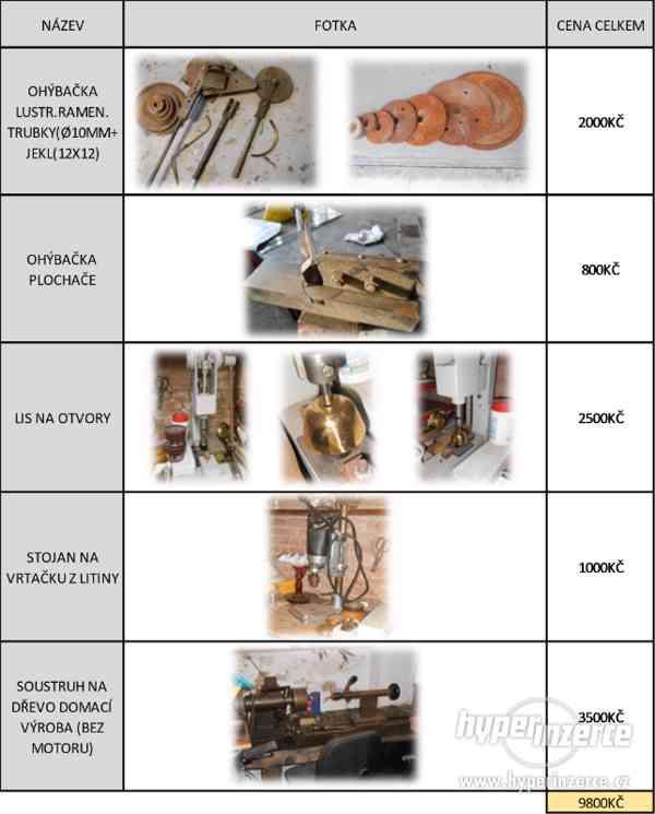 Prodám stínidla, nářadí a materiál na výrobu lustrů - foto 5