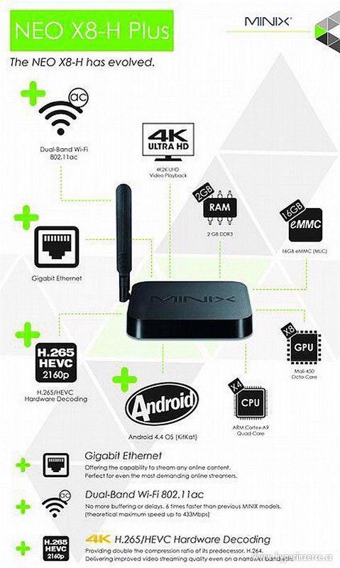 4k přehrávač Minix NEO X8-H Plus+cz tv zdarma - foto 4