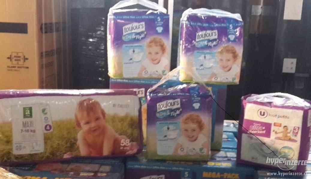 Prodám dětské jednorázové pleny značek Toujours, Babydream, - foto 1