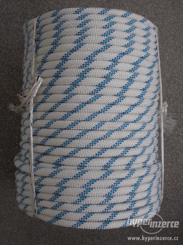 Statické polyamidové lano (PA) s jádrem 10mm - foto 2