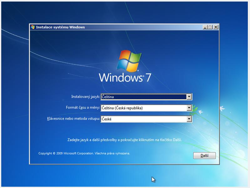 Instalační sada Windows 7 32/64bit,různé verze