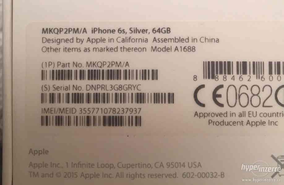 IPHONE 6S 64GB SILVER - foto 9