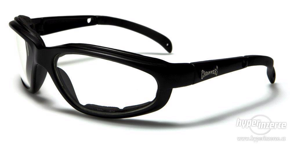 Prodám motorkářské moto sluneční brýle Choppers více druhů - foto 7