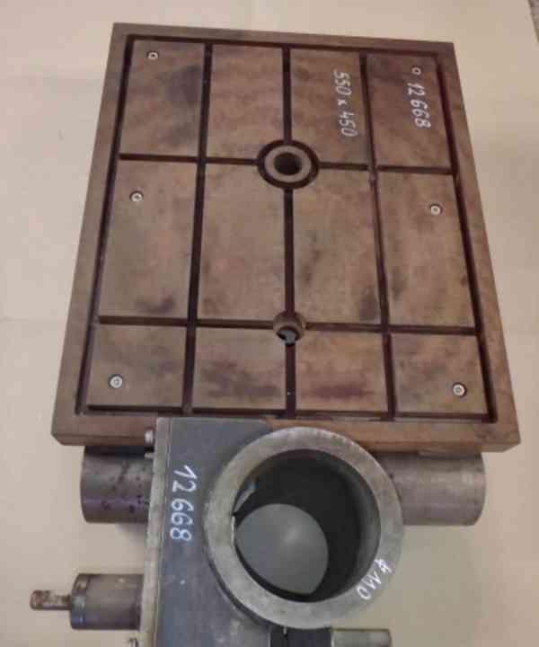 Stůl na vrtačku 550x450 , na průměr sloupu 110 (8465.) - foto 3