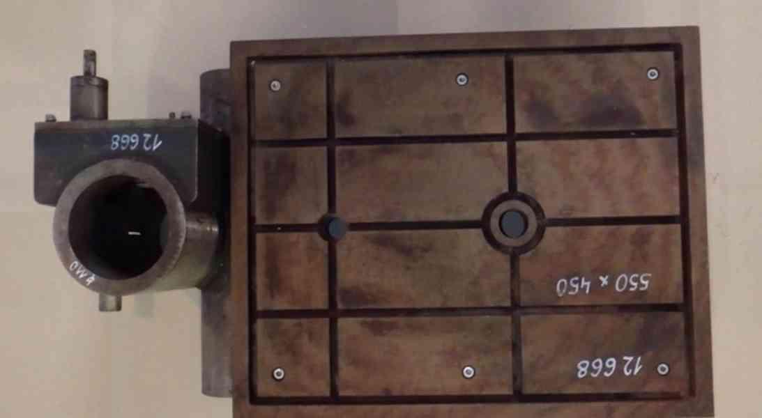 Stůl na vrtačku 550x450 , na průměr sloupu 110 (8465.) - foto 2