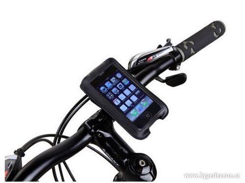 Kožený držák mobilního telefonu na kolo - foto 1