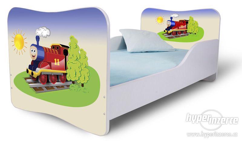 Dětská postel 160x80 cm včetně matrace, roštu VÝPRODEJ
