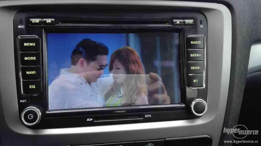 GPS Autorádio / navigace pro Škoda, VW, Seat