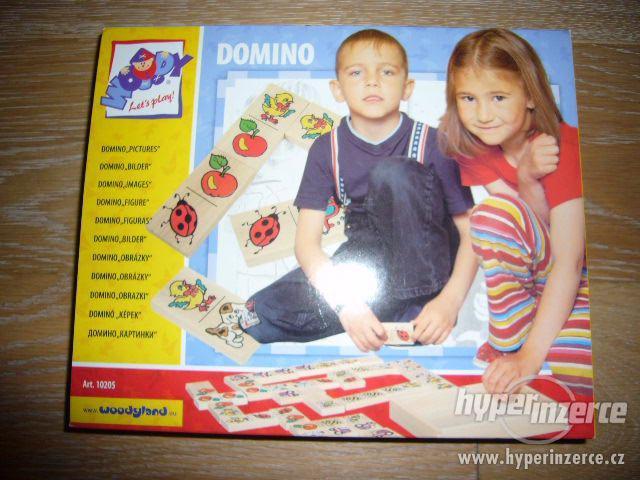 DOMINO - OBRÁZKY, zn. WOODY (30 hracích dřevěných kamenů) - foto 2