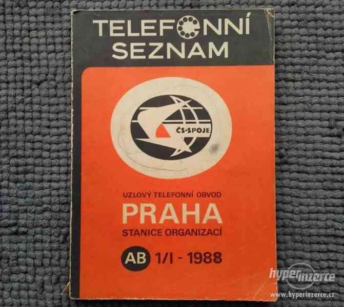 Telefonní seznam Praha Organizace do roku 1989 - foto 1