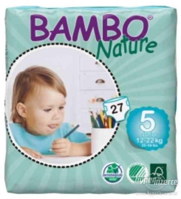 prodám  pleny Bambo Nature 5 Junior, 27ks, pro 12-22 kg - foto 1