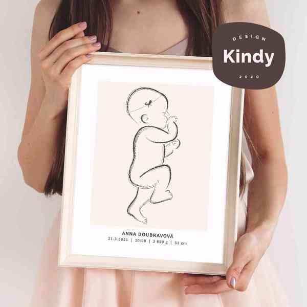 Navrhněte si jedinečný plakát miminka - Kindy.cz