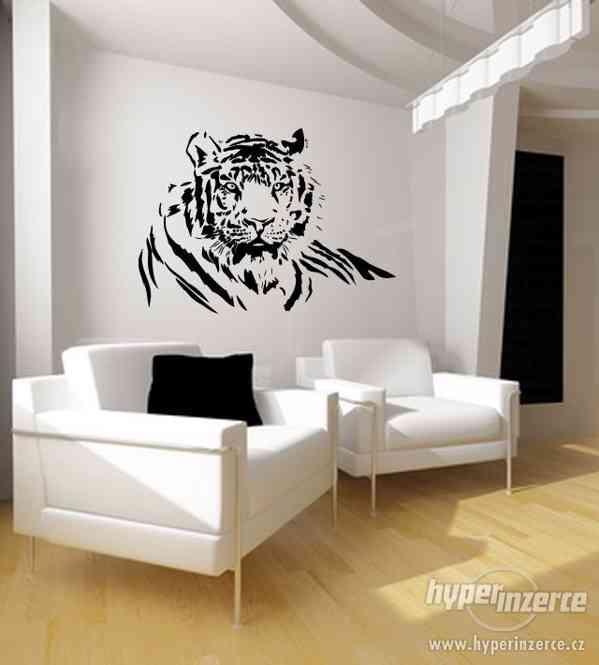 Samolepka na zeď : Tygr (80 cm x 60 cm)