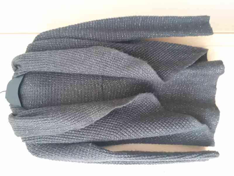 Hnědý třpytivý svetr Orsay