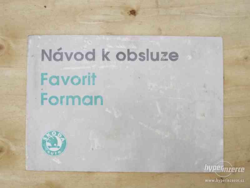 Návod k obsluze Škoda Favorit - Forman.