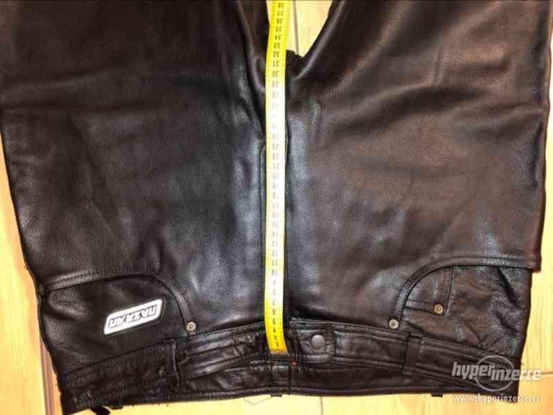 Motorkářské kožené kalhoty - foto 3