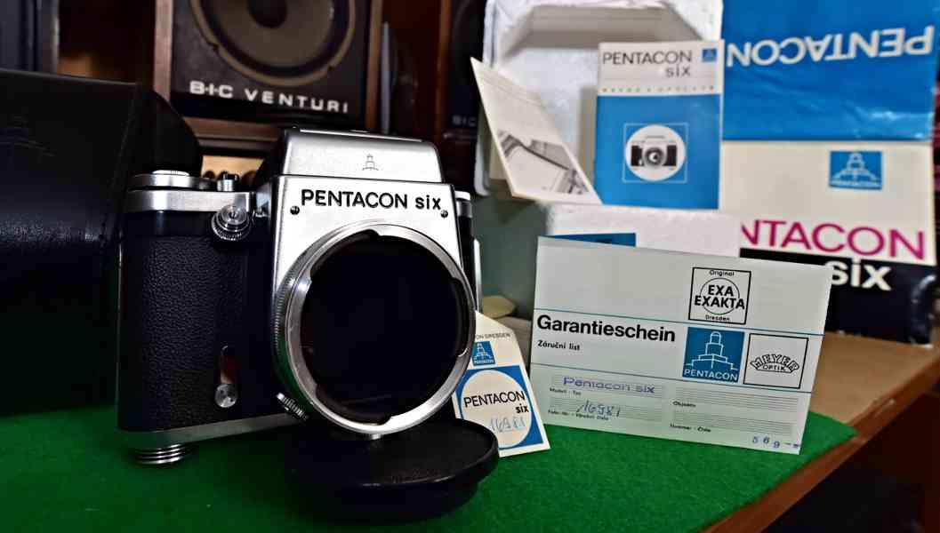 PENTACON six - NEPOUŽITÝ fotoaparát, rok 1970, výr.č. 16981 - foto 1